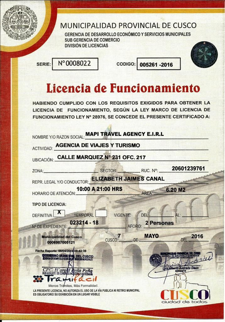 licencias mapi travel